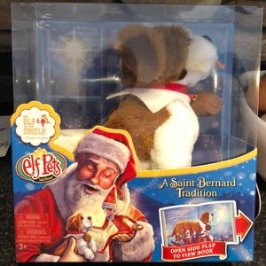 Other - The elf on the shelf elf pets St. Bernard w/bk